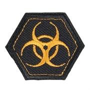 Шеврон на липучке Biohazard шестиугольник