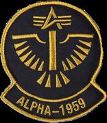 Шеврон на липучке Alpha 1959 черно-желтая