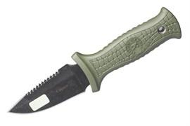 Нож туристический Страж черный олива
