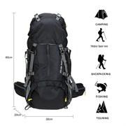 Рюкзак туристический Weikani 45+5л черный