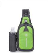 Сумка-рюкзак однолямочный Weikani Jingpinbag 4,5л с подсумком для бутылки зеленый