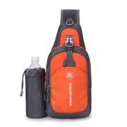Сумка-рюкзак однолямочный Weikani Jingpinbag 4,5л с подсумком для бутылки оранжевый