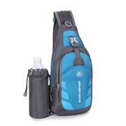 Сумка-рюкзак однолямочный Weikani Jingpinbag 4,5л с подсумком для бутылки синий