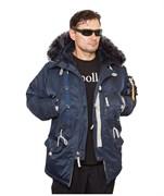 Куртка аляска Apolloget Sapporo Fleece Steel Blue New