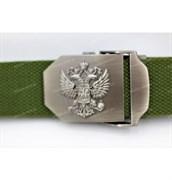 Ремень брючный Герб России олива