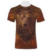 Футболка двусторонняя Мудрый медведь бурый