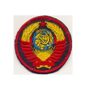 Шеврон на липучке Герб СССР на черном