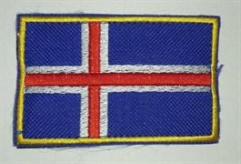 Шеврон на липучке Флаг Исландии