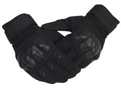 Перчатки тактические с дополнительной защитой черные