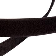 Лента липучка велкро с ответкой 25мм черная метр погонный