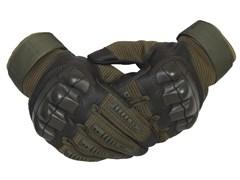 Перчатки тактические с дополнительной защитой олива