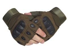 Перчатки тактические без пальцев олива