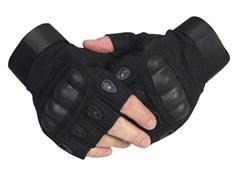 Перчатки тактические без пальцев черные