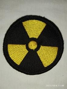 Шеврон на липучке Радиация