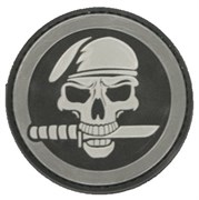 Шеврон на липучке Skull with knives круг