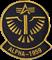 Шеврон на липучке Alpha 1959 черно-желтая - фото 20768